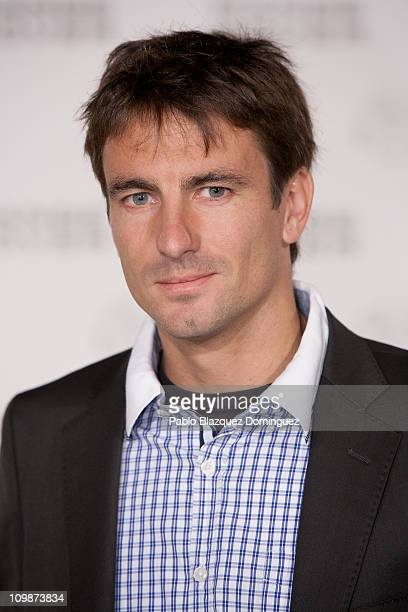 Spanish tennis player Tommy Robredo attends 'Madrid Evoca' party at Conde de Villagonzalo Palace on March 8 2011 in Madrid Spain