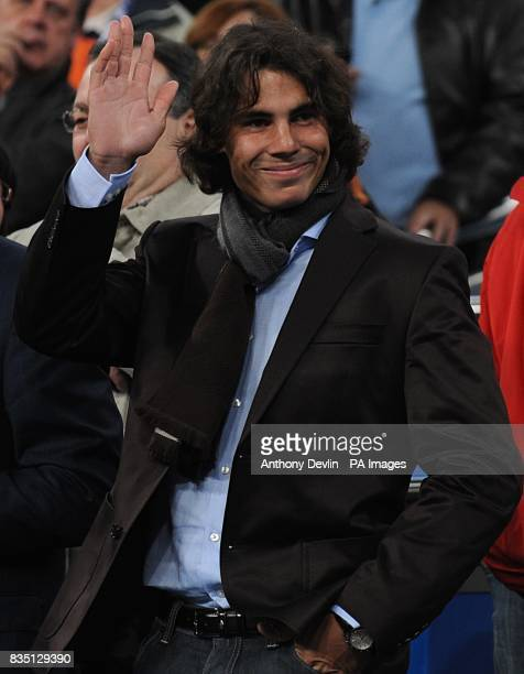 Spanish tennis star Rafael Nadal pictured in the stands