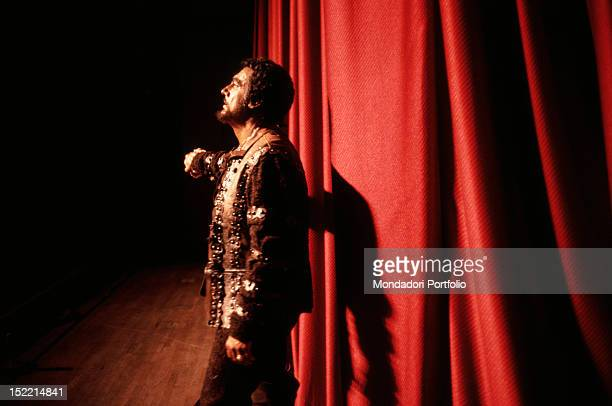 Spanish tenor and conductor Placido Domingo playing Othello Tokyo 1982