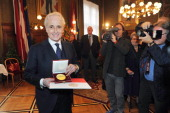 Spanish tenor Jose Carreras receives Golden Honorary Medal of Vienna on October 13 2011 in Vienna Austria
