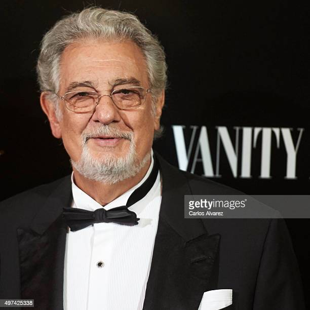Spanish tenor Placido Domingo attends the 'Vanity Fair Personality Of The Year' Gala at the Hotel Ritz on November 16 2015 in Madrid Spain