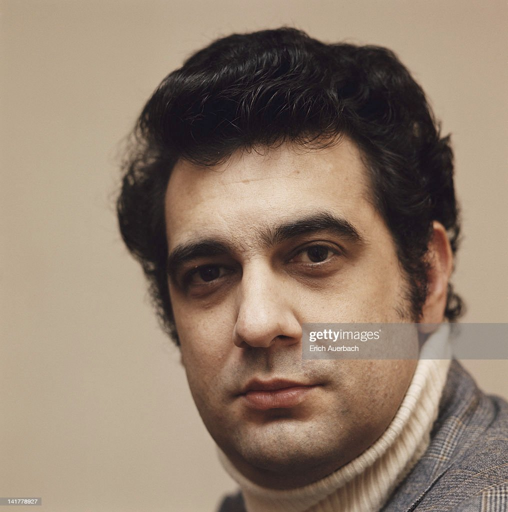 Spanish tenor Placido Domingo, circa 1970.