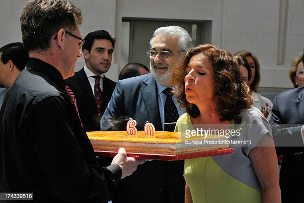 Spanish tenor Placido Domingo is appointed 'Madrid's Favorite Son' by Madrid town hall at Cibeles Palace on July 24 2013 in Madrid Spain Madrid's...