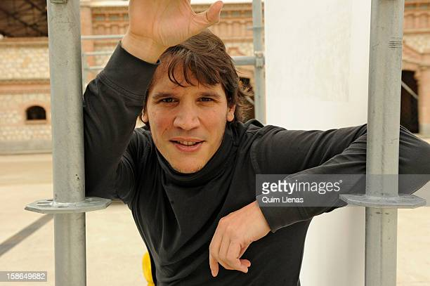 Spanish theatre director Sergio PerisMencheta poses for a photo shoot at Matadero Madrid on December 20 2012 in Madrid Spain