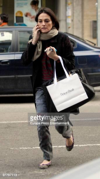Spanish top model Laura Ponte is seen on March 17 2010 in Madrid Spain