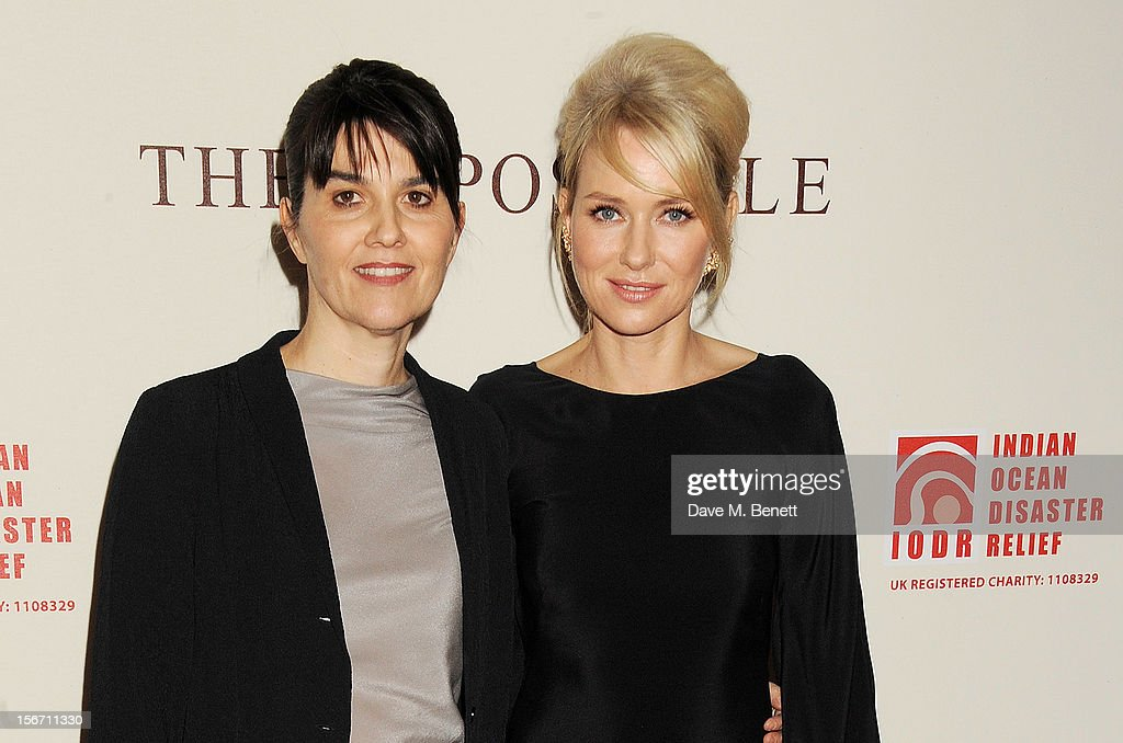 Spanish tsunami survivor Maria Belon (L) and actress <a gi-track='captionPersonalityLinkClicked' href=/galleries/search?phrase=Naomi+Watts&family=editorial&specificpeople=171723 ng-click='$event.stopPropagation()'>Naomi Watts</a> attend the UK charity premiere of 'The Impossible' at BFI IMAX on November 19, 2012 in London, England.