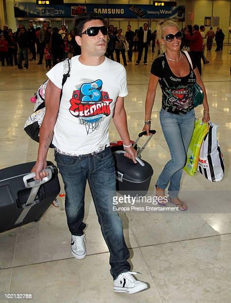 Spanish TV celebrity Belen Esteban and her husband Fran Alvarez are seen sighting on June 16 2010 in Madrid Spain