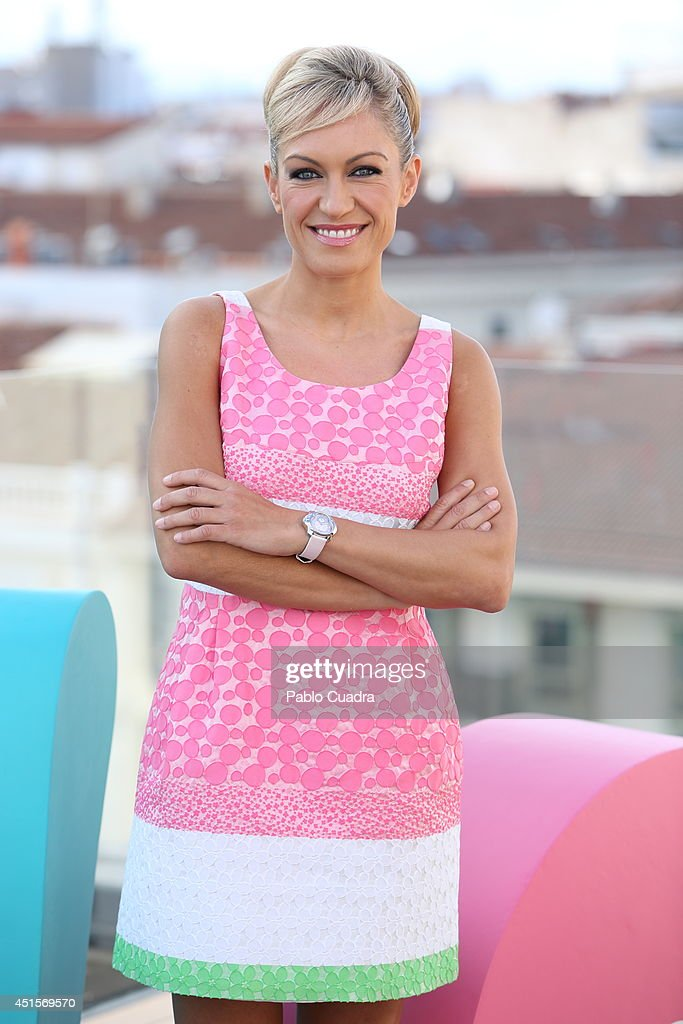 Spanish tv presenter Lujan Arguelles presents 'It Phone Divinity' on July 1, 2014 in Madrid, Spain.