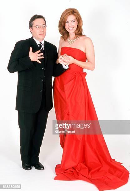 Spanish TV presenters Belinda Washington and Goyo Gonzalez Madrid Spain