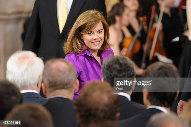 Spanish Vice President Soraya Saenz de Santamaria attends the 30th Anniversary of Spain being part of European Communities at the Royal Palace on...