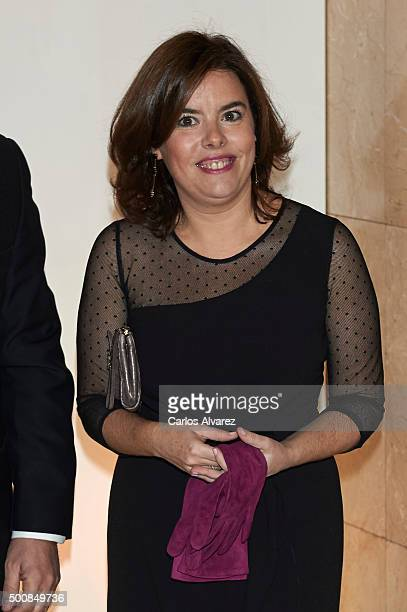 Spanish Vice President Soraya Saenz de Santamaria attends the 'Mariano De Cavia' awards on December 10 2015 in Madrid Spain