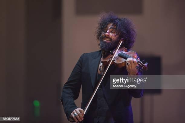 Spanish violinist of Lebanese origins and Armenian descent Ara Malikian gives concert within the ''Ankara World Music Festival'' in Ankara Turkey on...