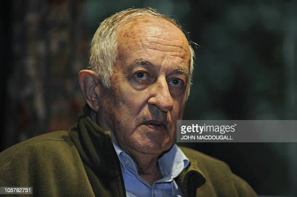Spanish writer and journalist Juan Goytisolo addresses a press conference in Berlin September 14 as part of Berlin's International Literature...