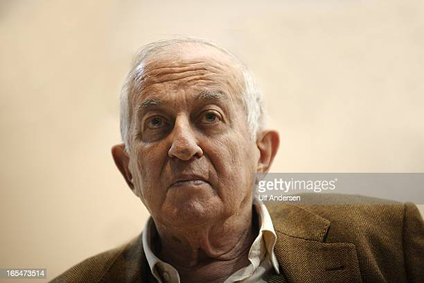 PARIS FRANCE MARCH 23 Spanish writer Juan Goytisolo during a conference at Paris book fair on March 23 2013 in Paris France