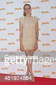 Spansih actress Esmerada Moya attends the Folli Follie summer party at the Greek Embassy on July 9 2014 in Madrid Spain