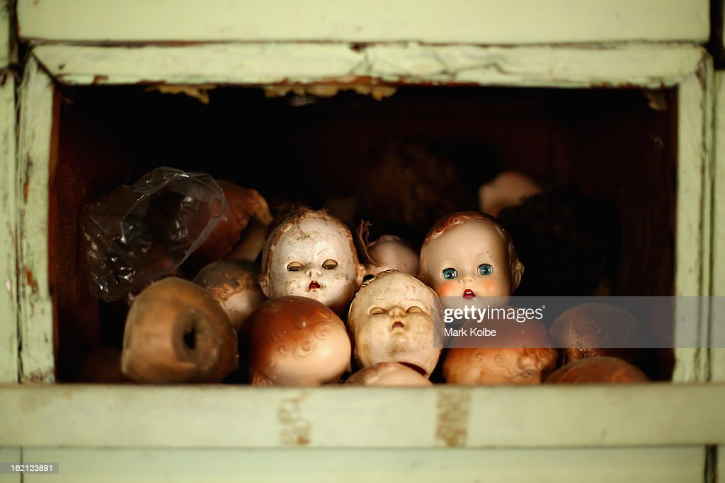 Spare doll heads are seen at Sydney's Original Doll Hospital in Bexley on February 19, 2013 in Sydney, Australia. Established in 1913 by Harold Chapman Jnr the Doll hospital is now run by Geoff Chapman, the third generation of Chapmans to run the business and will celebrate 100 years of repairing all types of dolls, teddy bears, rocking horses, umbrellas, prams and various other items.