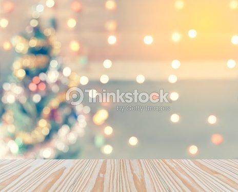 Sparkle Bokeh Of Christmas Tree Template Mock Up For Display Stock