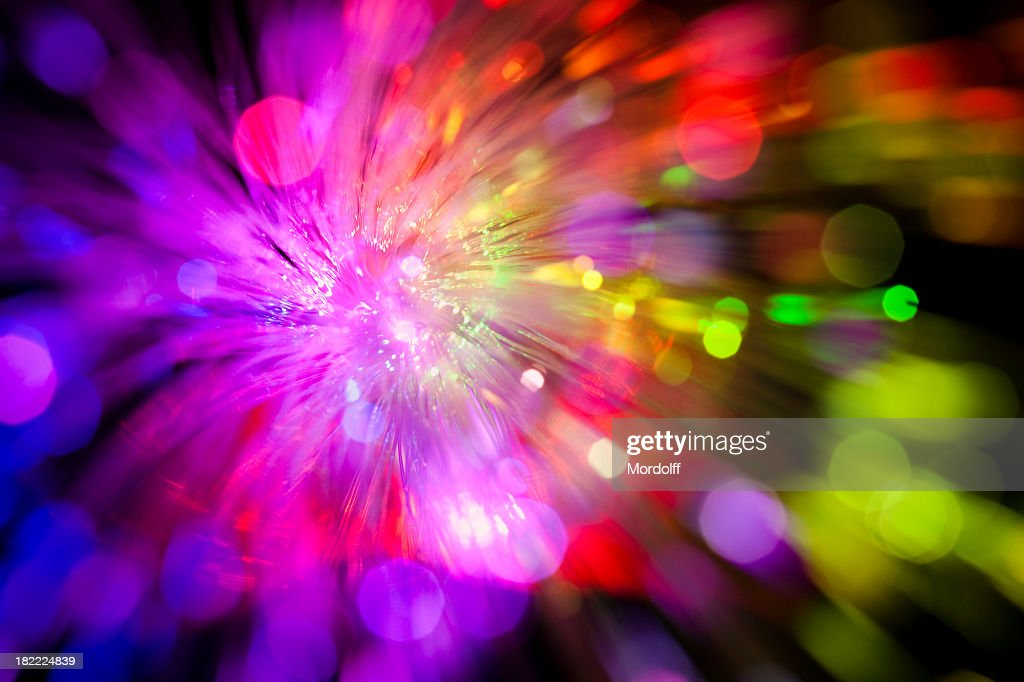 Sparkle of defocused lights. Abstract background : Stock Photo