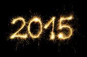 Sparkler 2015 On Black Background