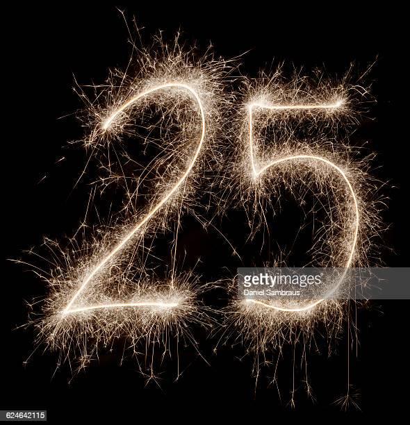 Sparkling celebration number 25