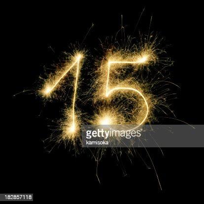 Sparkling Celebration Number Fifteen
