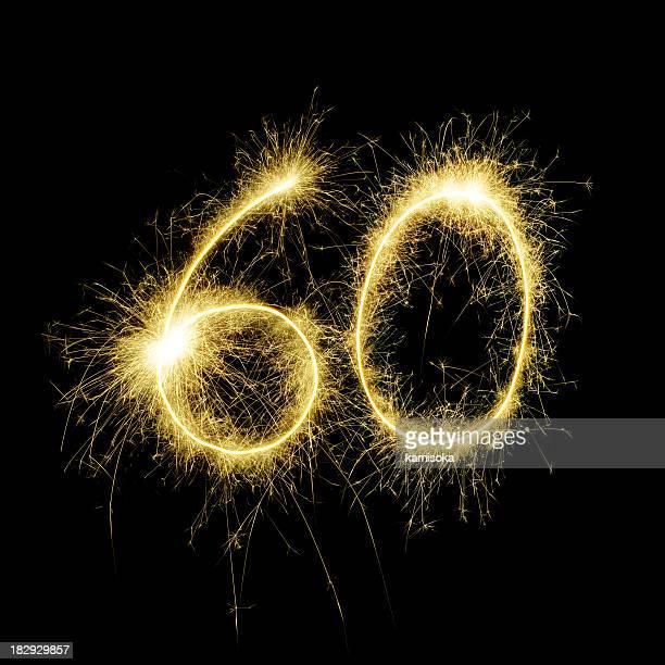 Sparkling Celebration Number Sixty