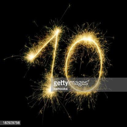 Sparkling Celebration Number Ten
