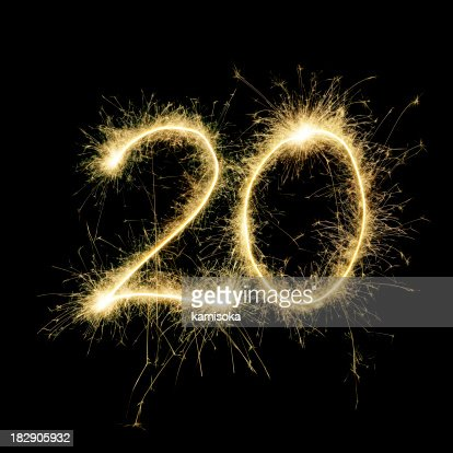 Sparkling Celebration Number Twenty