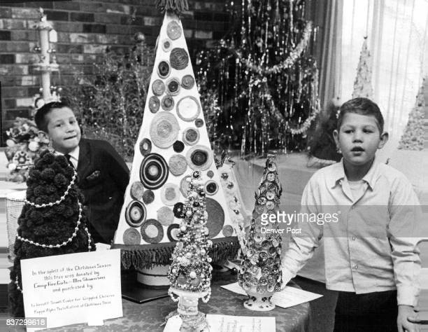 Sparkling Christmas Trees Fascinate Youngsters These two boys Joey Lujan left of 3926 Julian St and Mitchell McAndrew of 4835 Irving St were among...