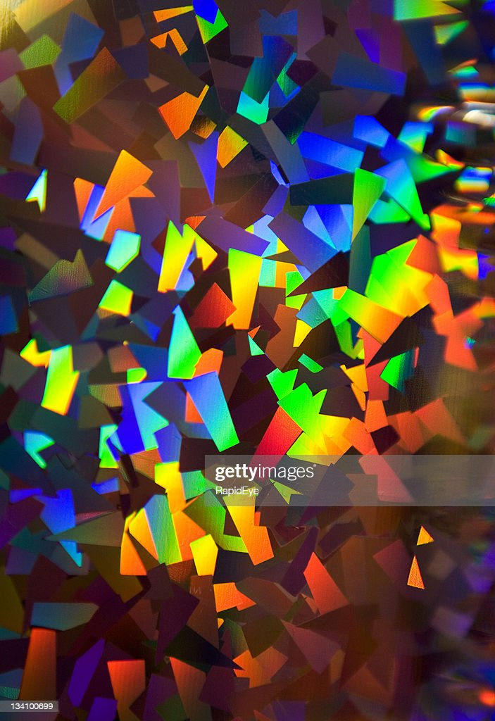 Sparkling multicolored holographic wrapping paper