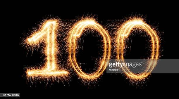 Chiffre 100 (XXL) étincelante
