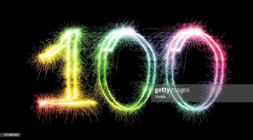 Sparkling Number 100 (XXXL)