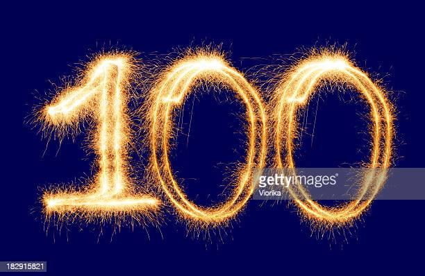 Sparkling Number 100 (XXL)