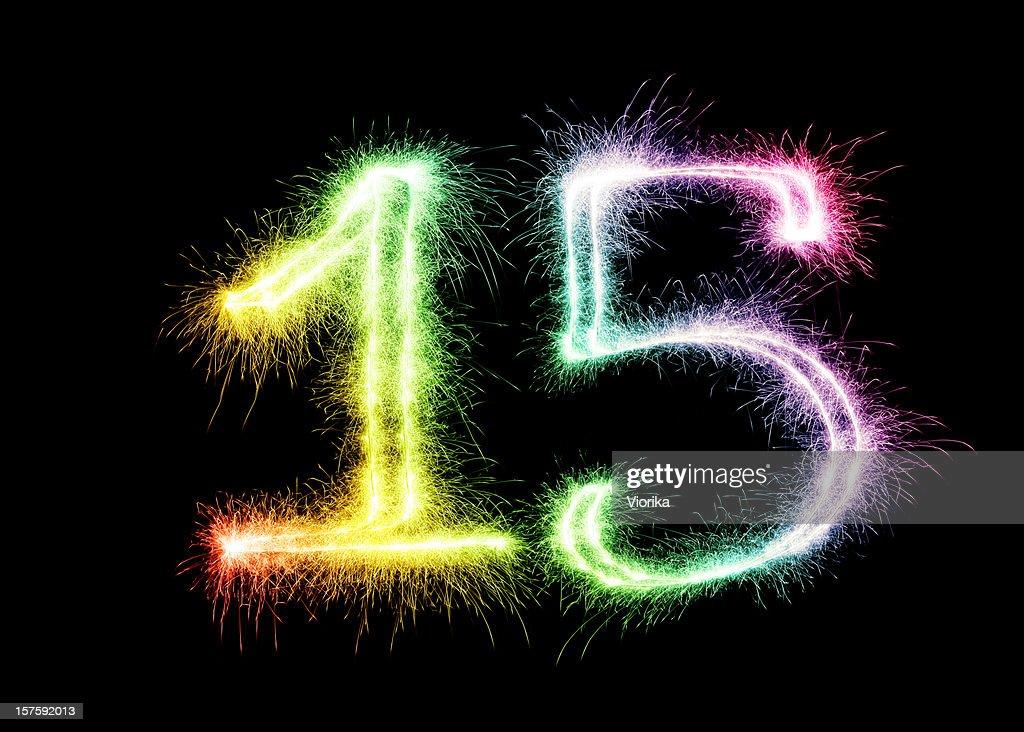 Sparkling Number 15 (XXL)