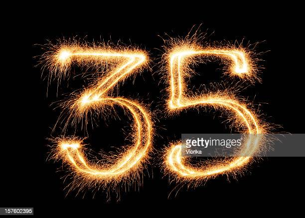 Sparkling Number 35 (XXL)