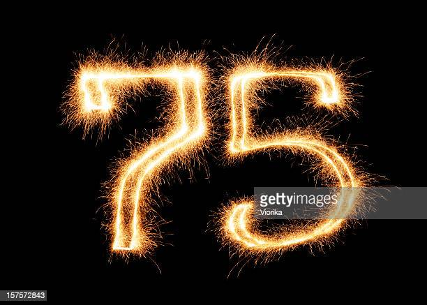 Sparkling Number 75 (XXL)