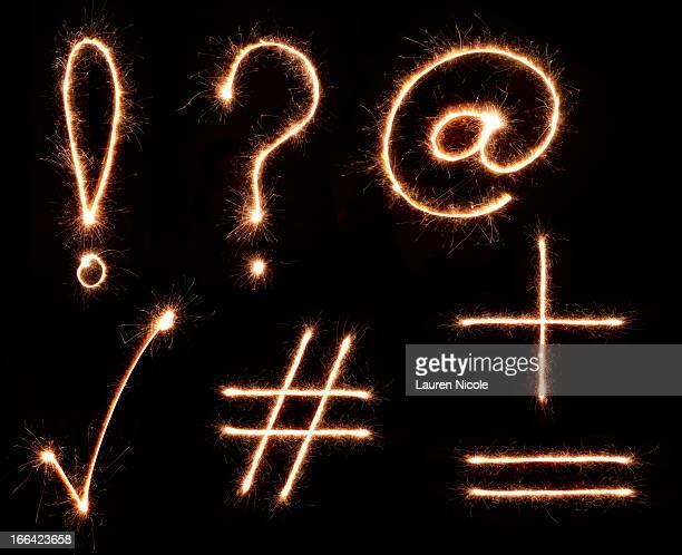 Sparkling Punctuation Symbols