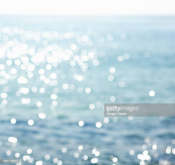 Sparkling sea water, defocused
