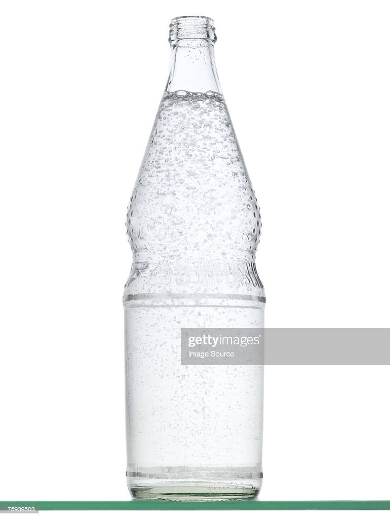 Sparkling water in a bottle