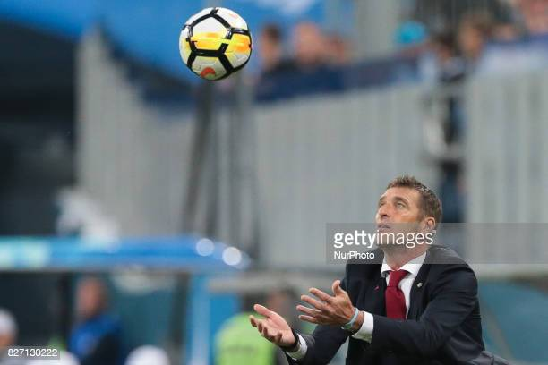 FC Spartak Moscow head coach Massimo Carrera during the Russian Football League match between FC Zenit St Petersburg and FC Spartak Moscow at Saint...