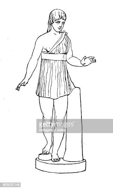Spartan girl with short semiopen chiton Sparta Greece History of fashion costume story