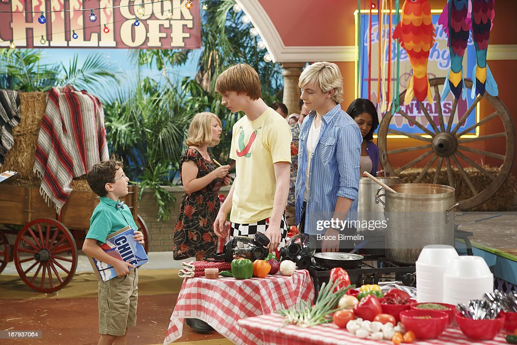 AUSTIN & ALLY - 'Spas & Spices' - Trish gets a job at a spa and invites Ally for some treatments before an upcoming photo shoot. Meanwhile, Austin agrees to pick up Ally's necklace for her, but things go awry when he drops it in a pot of chili that Dez is entering in a chili cook-off. This episode of 'Austin & Ally' airs SUNDAY, MAY 19 (8:30 PM - 9:00 PM ET/PT), on Disney Channel. LYNCH