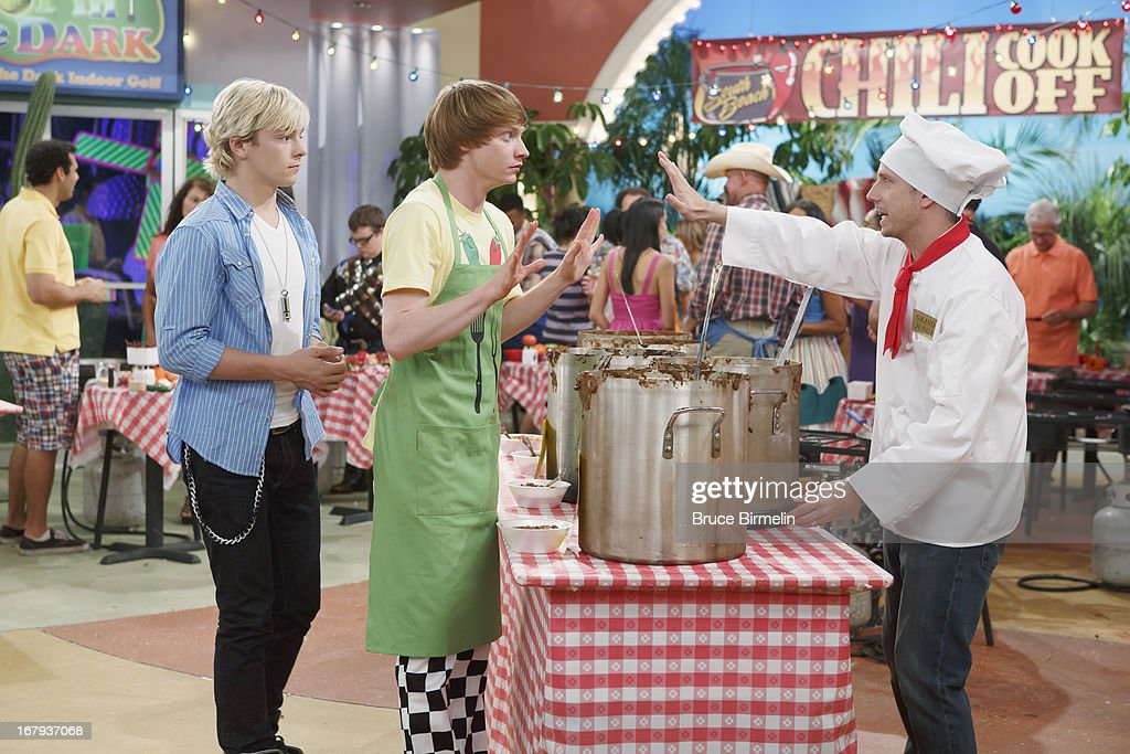 AUSTIN & ALLY - 'Spas & Spices' - Trish gets a job at a spa and invites Ally for some treatments before an upcoming photo shoot. Meanwhile, Austin agrees to pick up Ally's necklace for her, but things go awry when he drops it in a pot of chili that Dez is entering in a chili cook-off. This episode of 'Austin & Ally' airs SUNDAY, MAY 19 (8:30 PM - 9:00 PM ET/PT), on Disney Channel. GIBSON