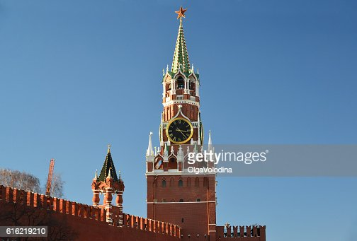 Spasskaya  tower of Moscow Kremlin, Russia : Stockfoto