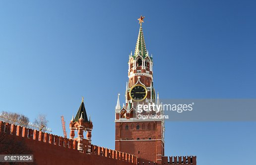 Spasskaya  tower of Moscow Kremlin, Russia : Foto stock