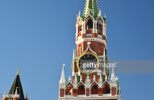 Spasskaya  tower of Moscow Kremlin, Russia : Stock-Foto
