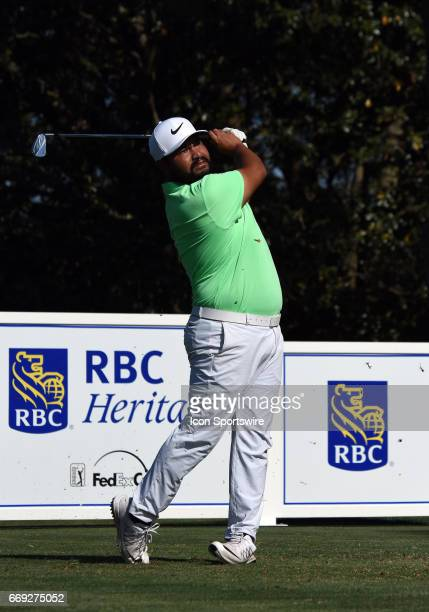 J Spaun during the final round of the RBC Heritage Presented by Boeing Golf Tournament on April 16 at Harbour Town Golf Links in Hilton Head Island SC