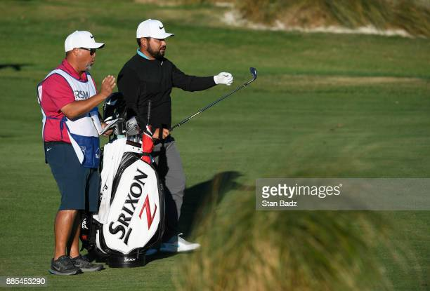 J Spaun plays a shot on the 18th hole during the final round of The RSM Classic at the Sea Island Resort Seaside Course on November 19 2017 in Sea...