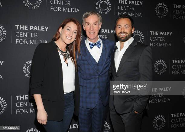 Speacial Correspondent Joanna Housmann Bill Nye and Derek Muller attend The Paley Center For Media presents 'Bill Nye Saves The World' screening and...