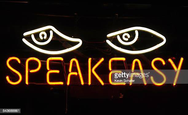 Speakeasy Seattle Internet service company neon sign Seattle Washington March 8 2015